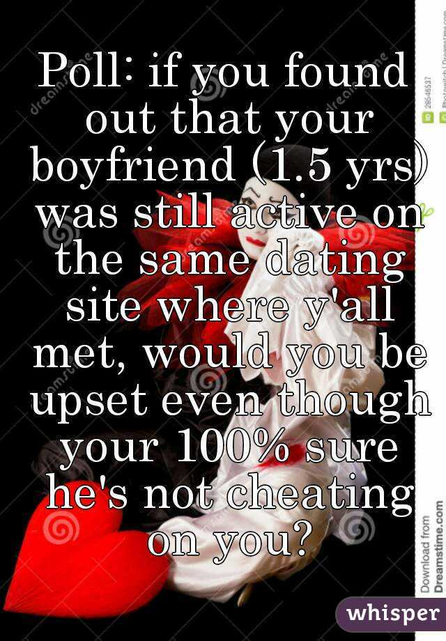 boyfriend still goes on dating site How do you ignore the fact that the person you're dating is dating other still active on this online dating site as far as getting exclusive goes.
