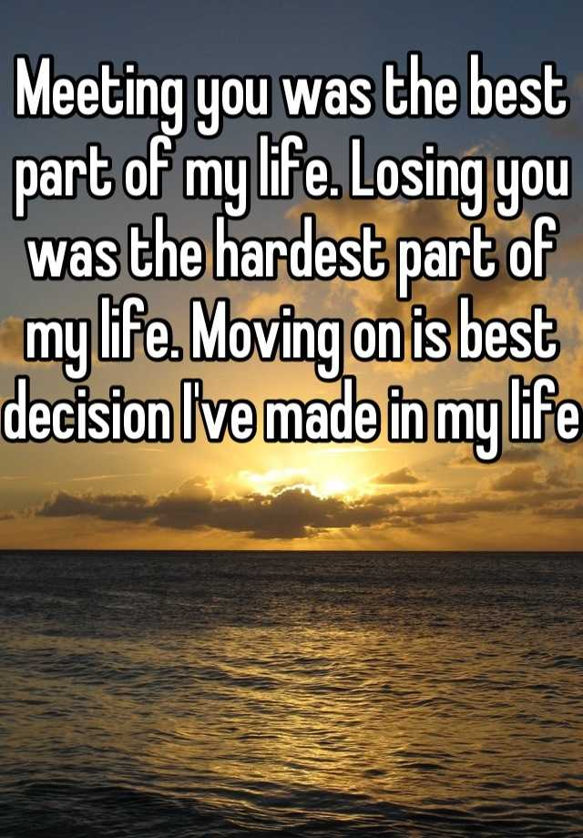 "the best decision of my life The best decision of my life by scnewsltr – june 9, 2015 it was may 2009, the worst recession of the century and i had just graduated with a business degree, student loans, and no job this was not how i imagined my start in the ""real world"" the summer i graduated i had what i call a quarter life crisis it was the first time in my."