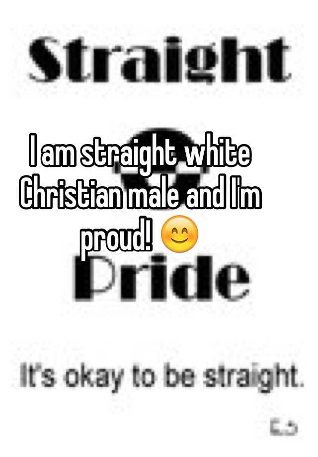 White christian male
