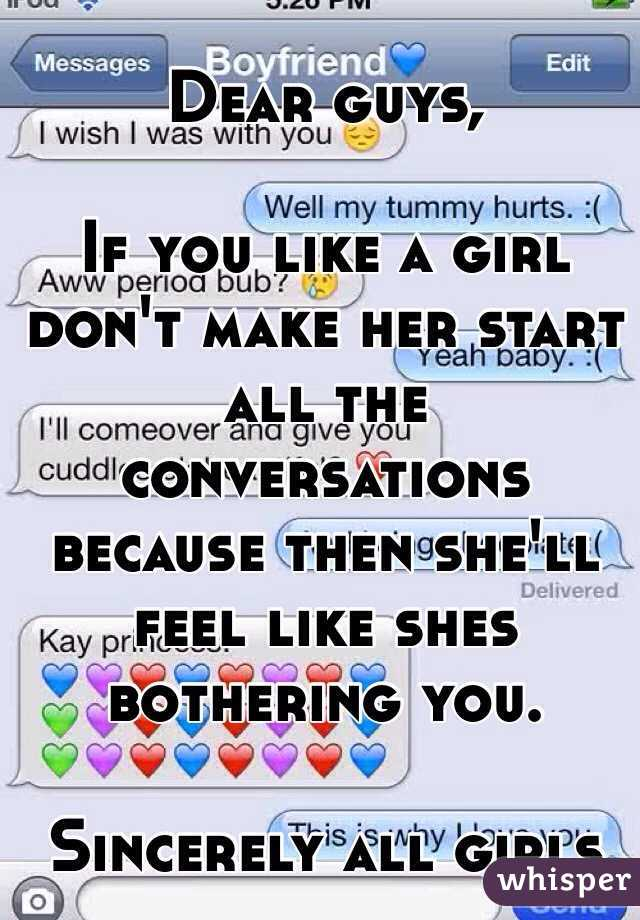 Dating a girl you really like