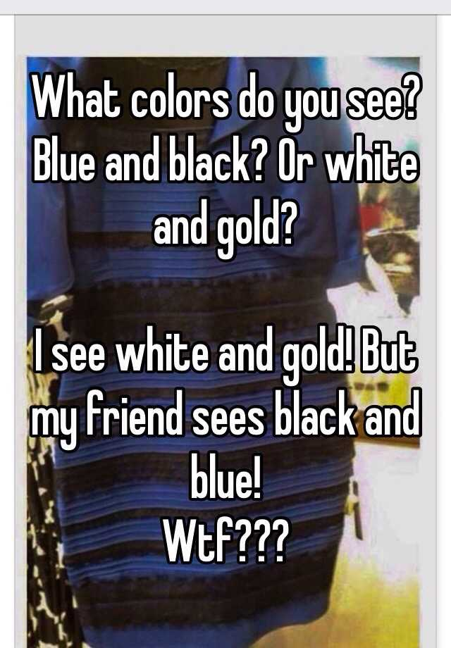 what colors do you see blue and black or white and gold. Black Bedroom Furniture Sets. Home Design Ideas
