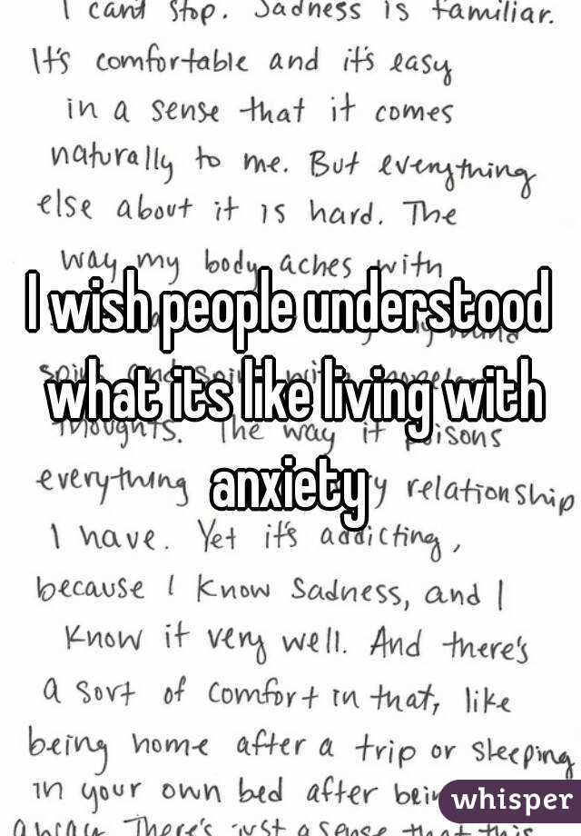 from Briggs what its like dating someone with anxiety