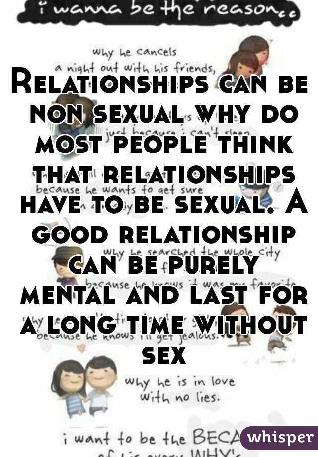 Non sexual relationship dating
