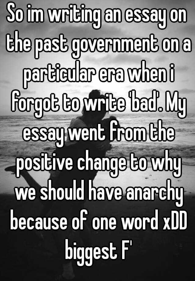 Im writing an essay?