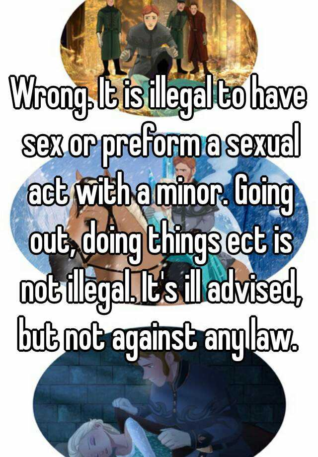 laws involving sex and minors