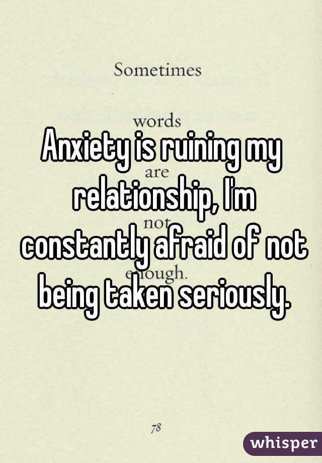 my stress is ruining the relationship