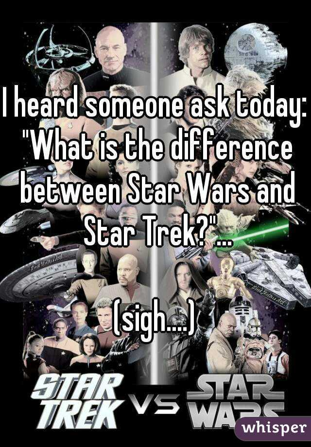compare and contrast star wars vs star trek Star wars fans vs star trek fans – analysis of their online behaviour highlights surprising differences.
