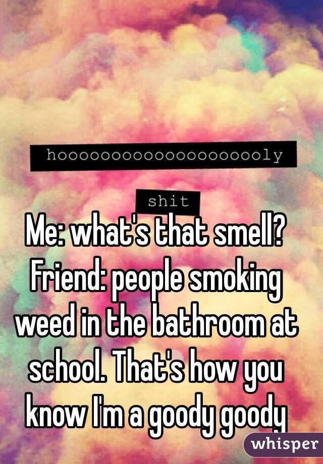 Friend people smoking weed in the bathroom at school. Smoking Weed In Bathroom