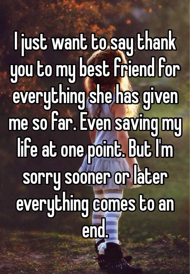 how to say thank you to your best friend