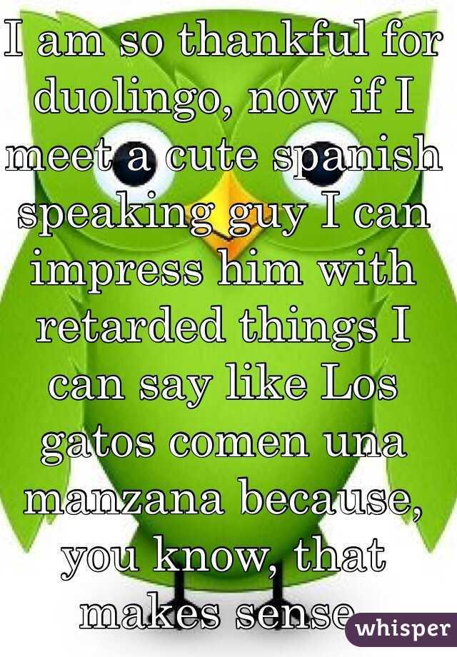 I Am So Thankful For Duolingo, Now If I Meet A Cute
