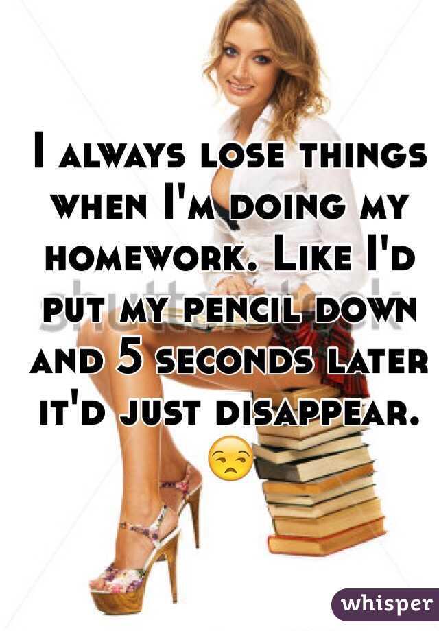 Doing my homework