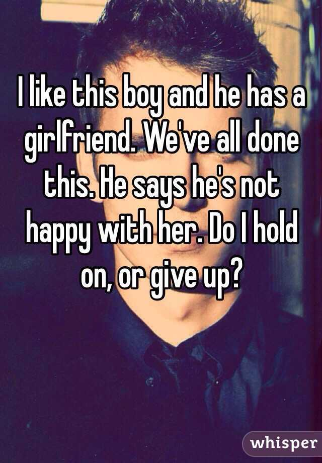 i like this boy but hes dating another girl I once read that girls brains are like spaghetti, with all the thoughts mixing together at the same time, and that boy brains are like waffles, with boys only being able to focus on one square at a time but i've always wondered why a guy will pay attention to a girl one day, then the next act like.