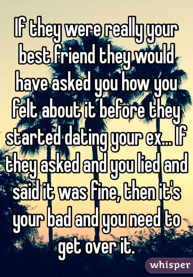If your ex is dating your best friend