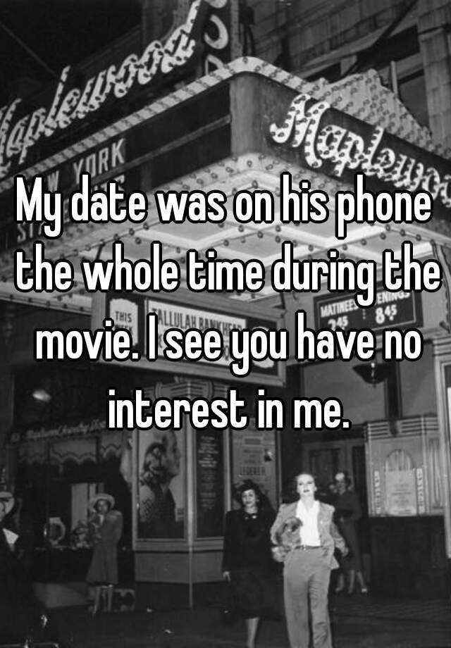 I have no interest in dating