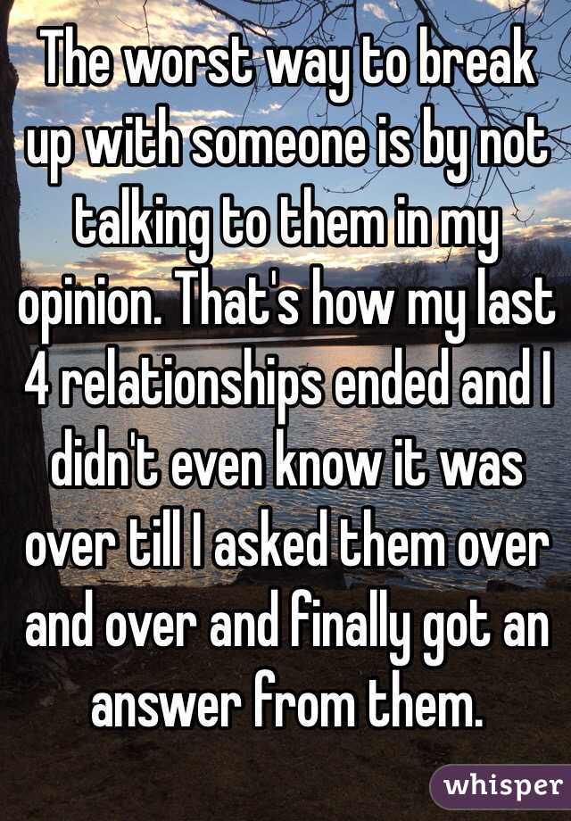 How to break up with someone youre not dating