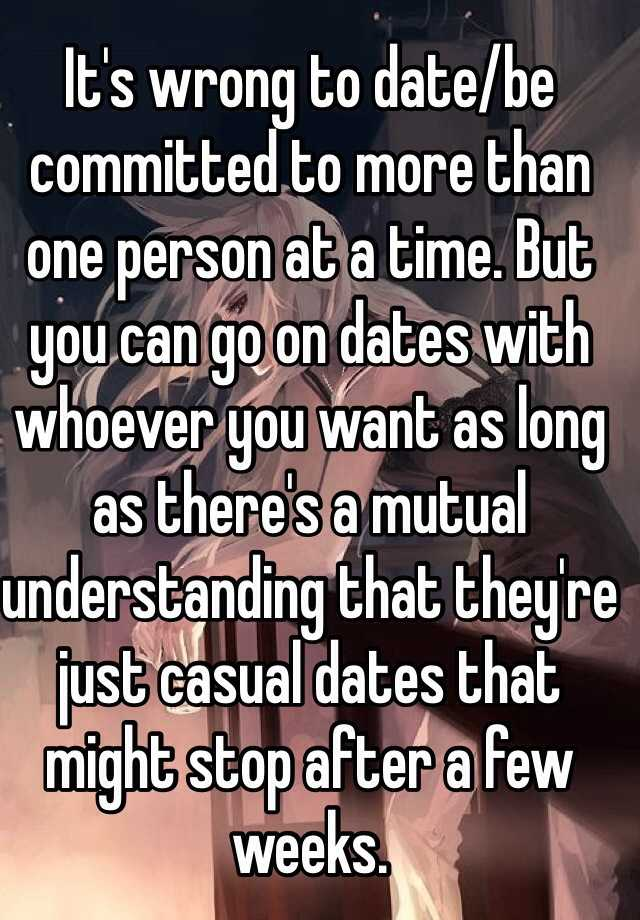 Dating more than one person at a time