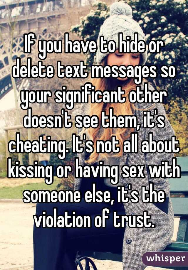 Image result for cheating. If you delete a text, you are already cheating
