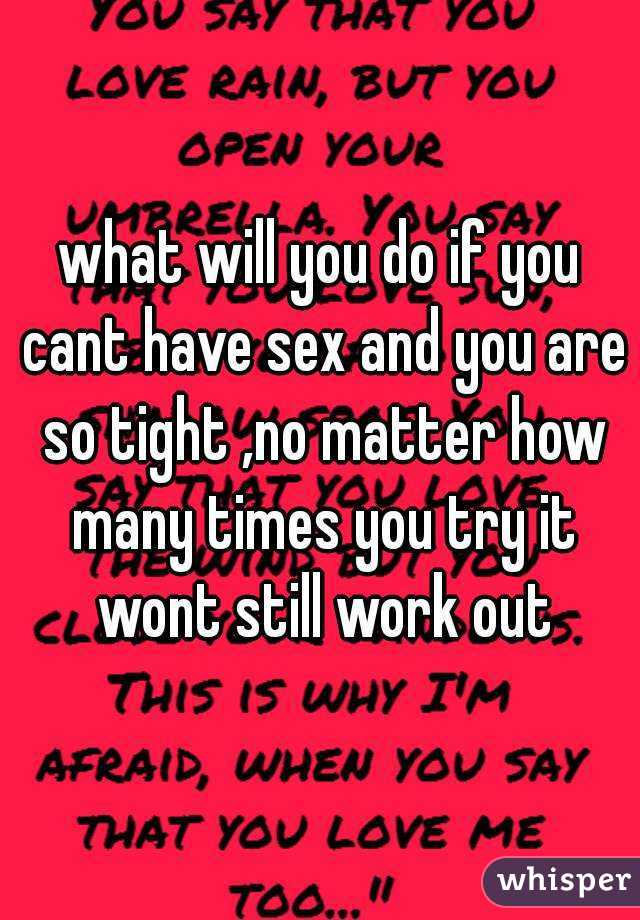 Inability to have sex multiple times