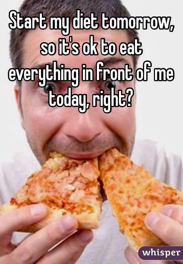 how do i start my diet tomorrow