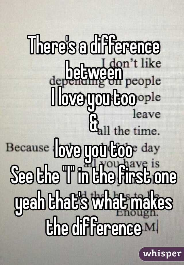Difference between love and in love