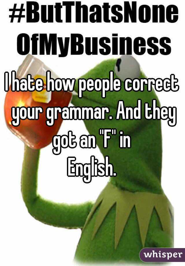 How to correct grammar