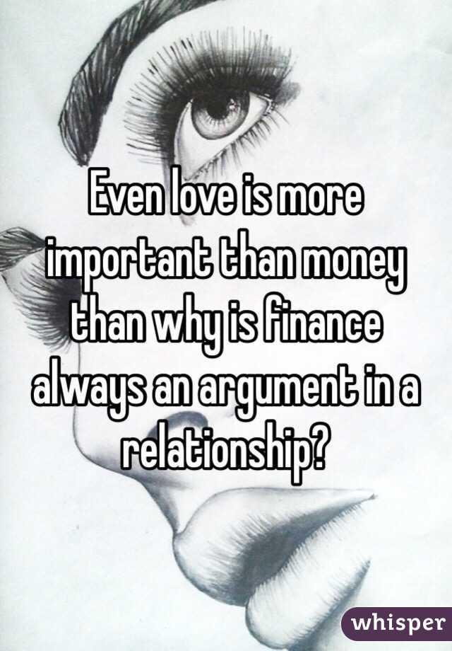 essay about money is more important than love The longer i love, the more i realize the impact of attitude on life ― charles r  swindoll see  why is love more important in your life than money answer.