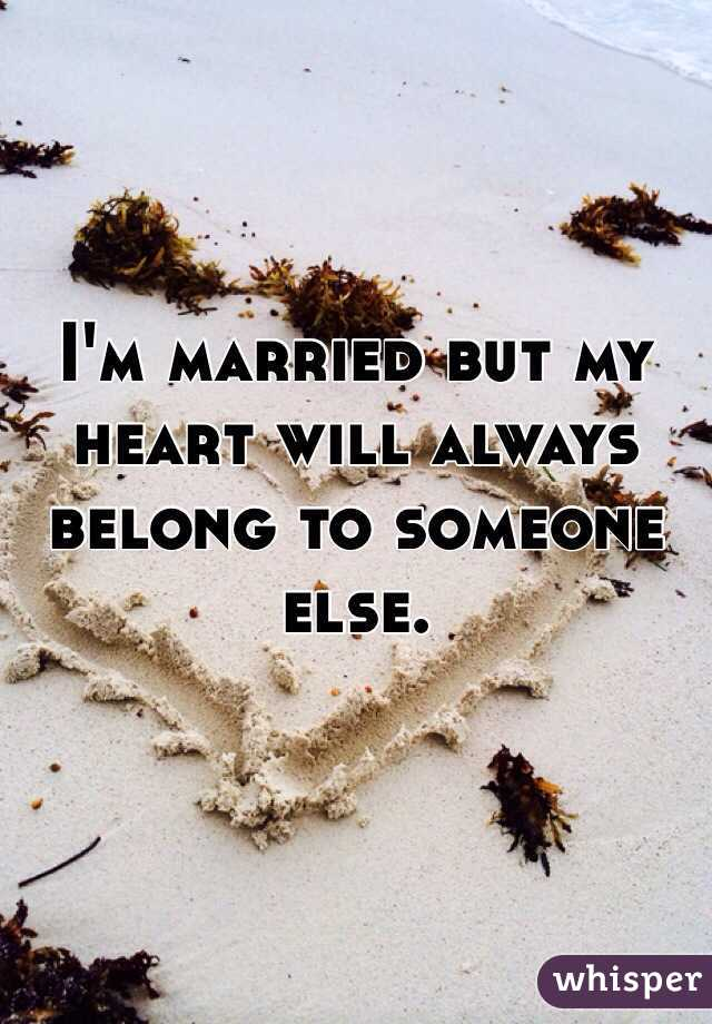 I'm married but dating someone else