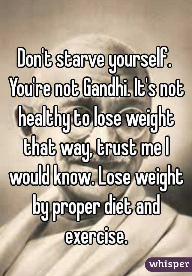 So you wanna lose weight