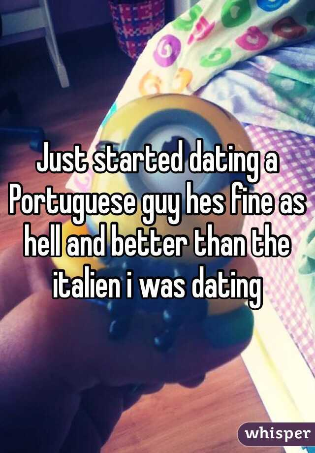 Just started dating a guy