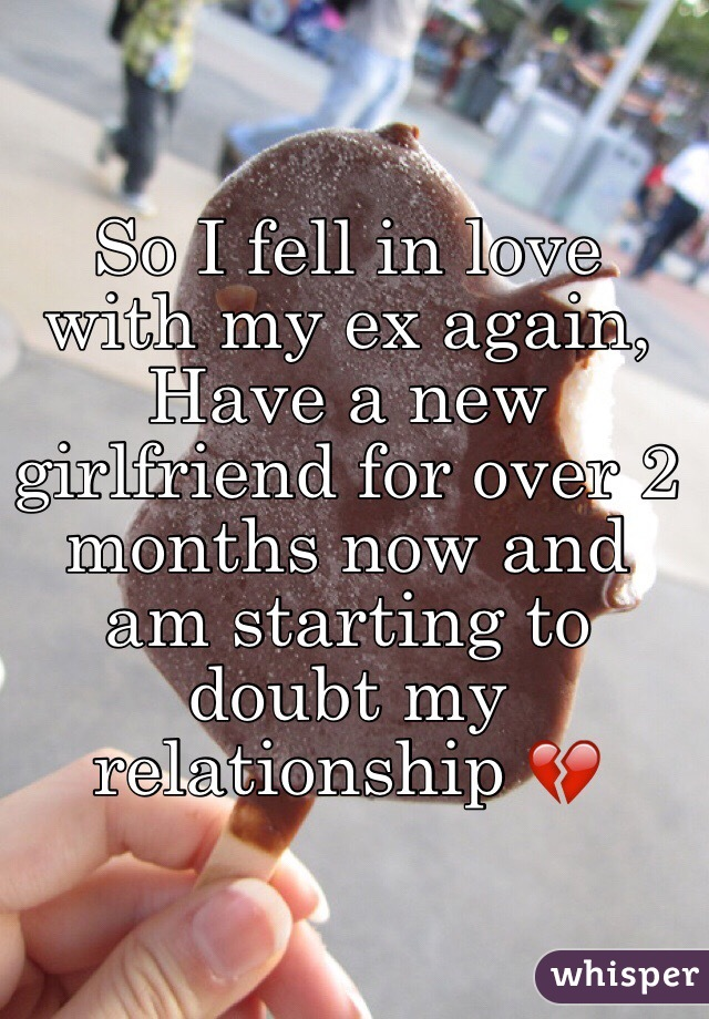 my ex started dating again