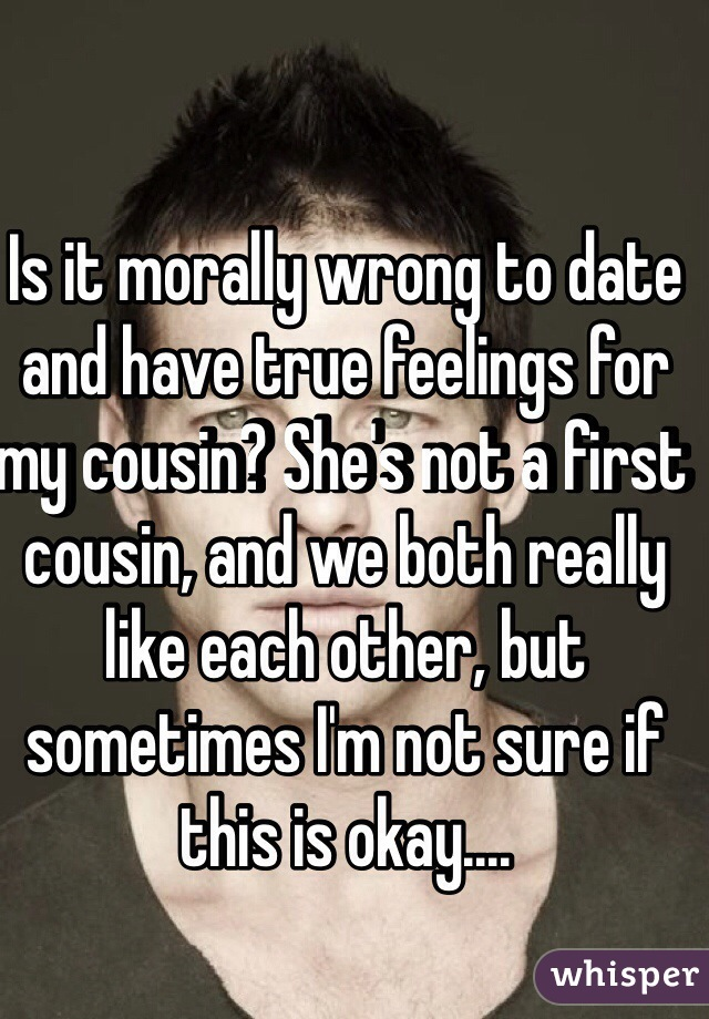 Dating first cousin