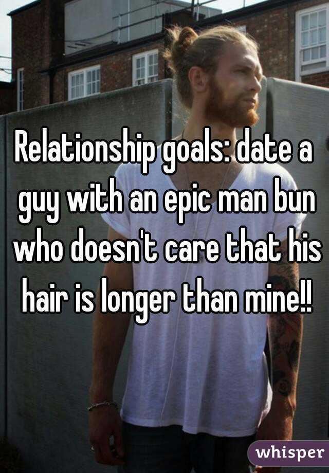 Epic Man Bun a Guy With an Epic Man Bun