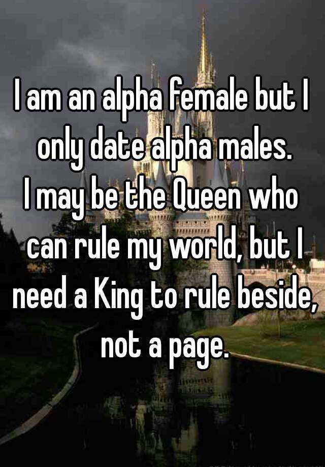 Should alpha female hookup alpha male