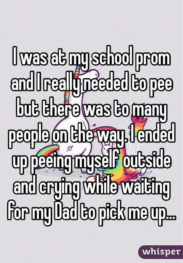 Cyring while peeing