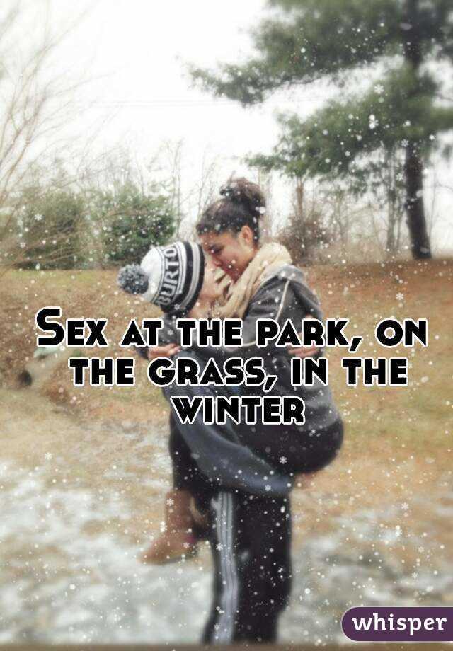 Секс фото зима парк фото 426-839