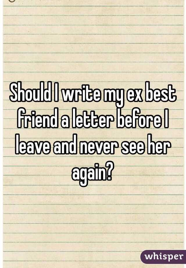 Should i write her a letter?