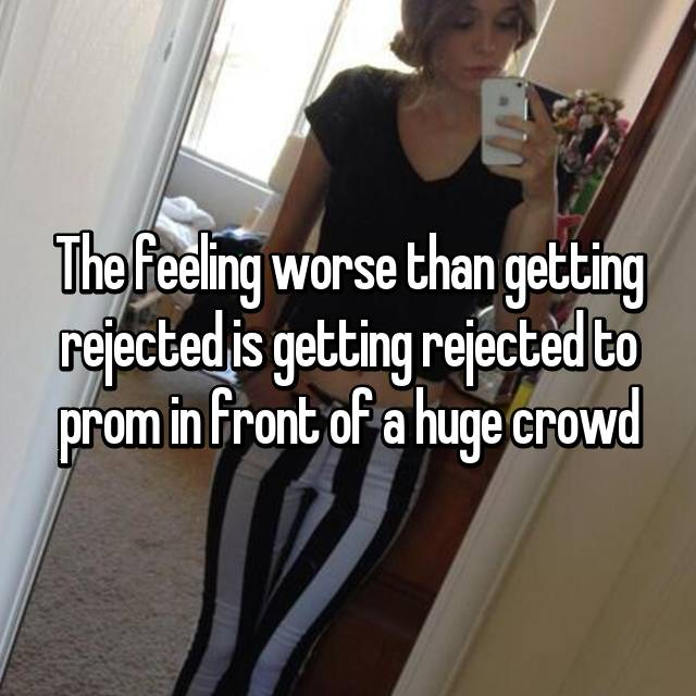 The feeling worse than getting rejected is getting rejected to prom in front of a huge crowd