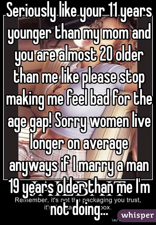 Dating a woman 20 years older than you