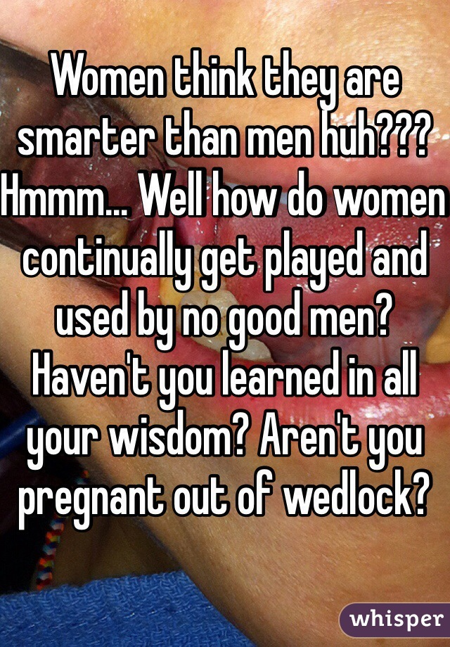 Are men smarter than women?