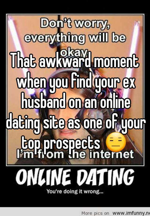 Husband using dating websites