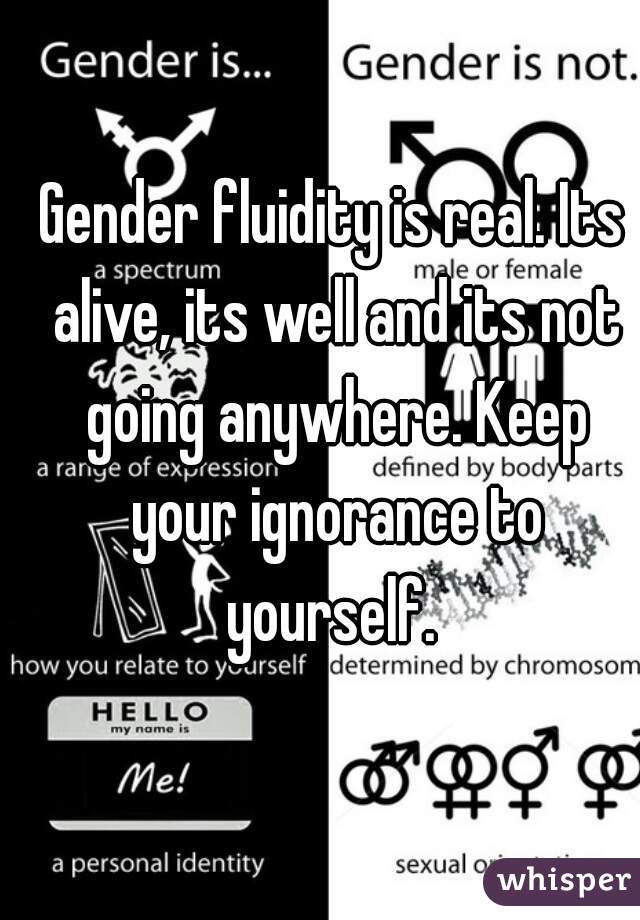 gender fluidity is not real