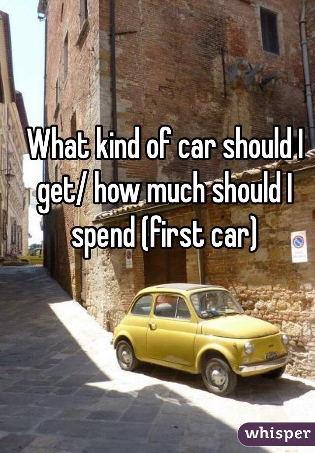 what kind of car should i get how much should i spend first car. Black Bedroom Furniture Sets. Home Design Ideas