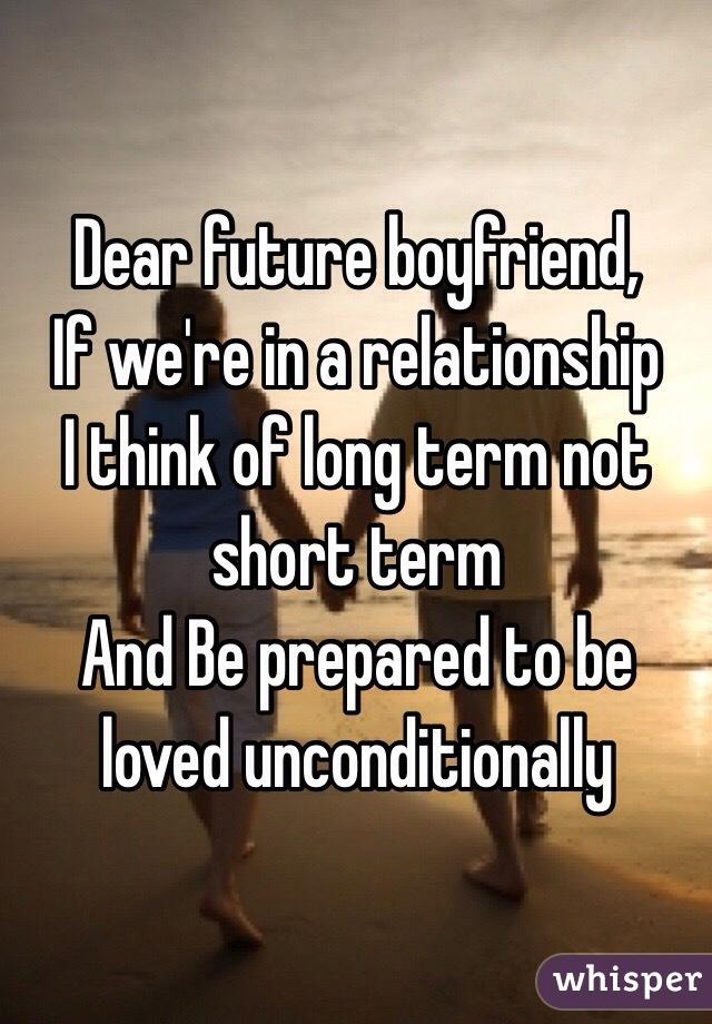 Long term boyfriends?