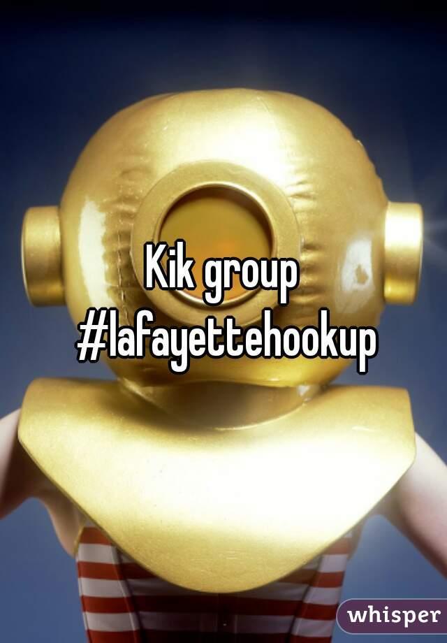 Hookup groups on kik