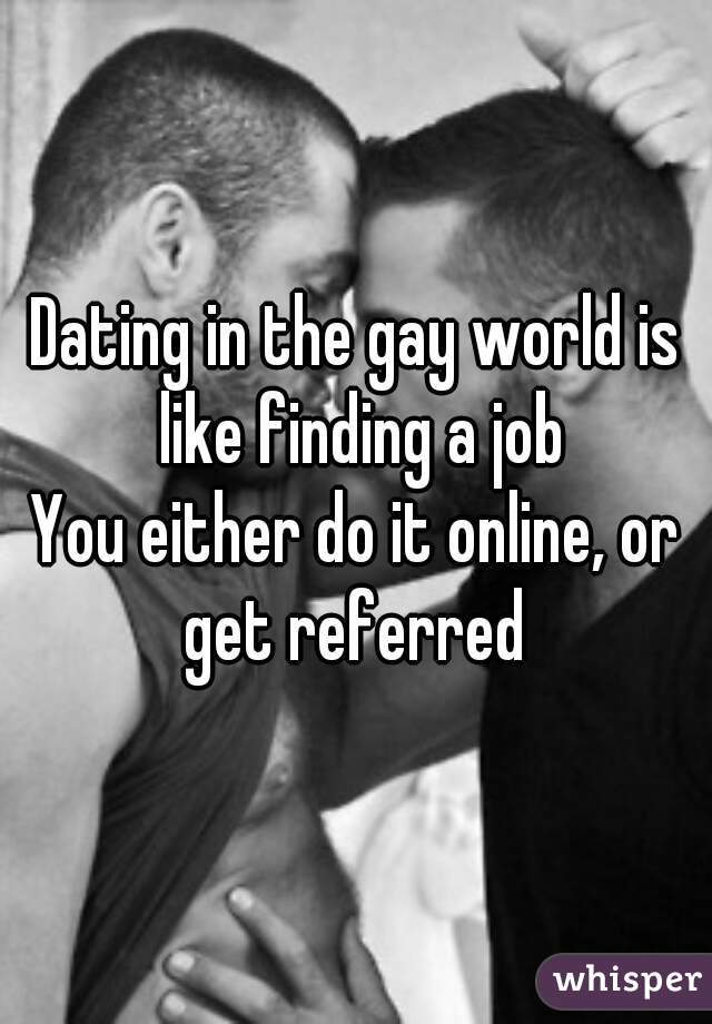 dating in the gay world