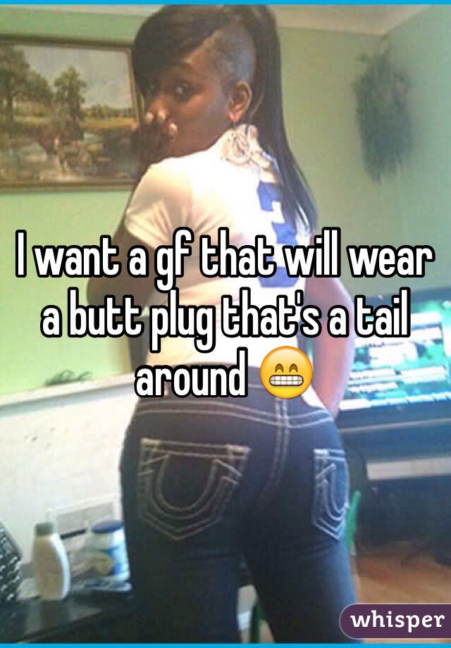 Walking around with a butt plug