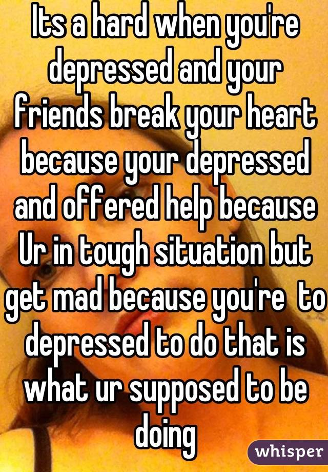 What to do when youre depressed