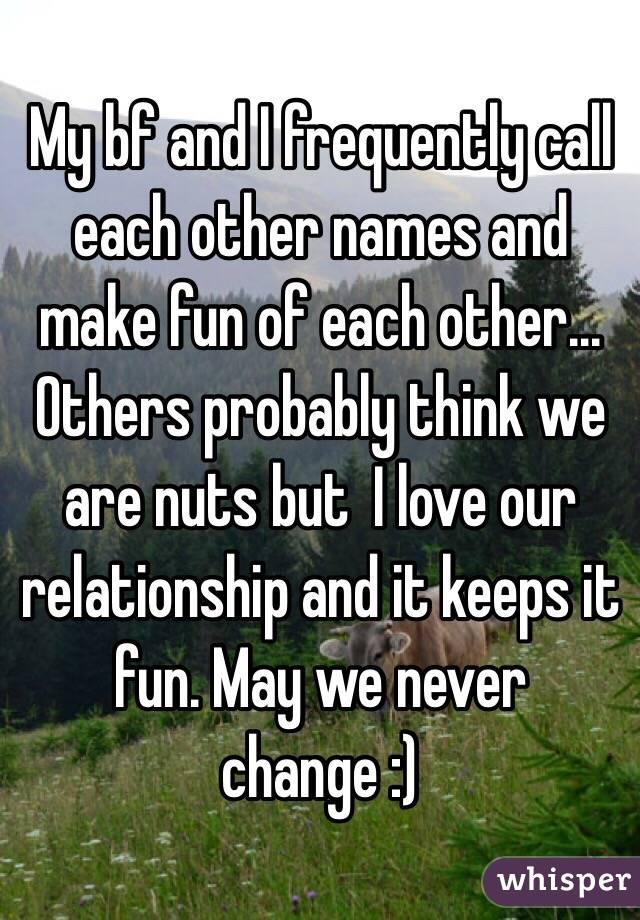 Names Make Fun of Names And Make Fun of Each
