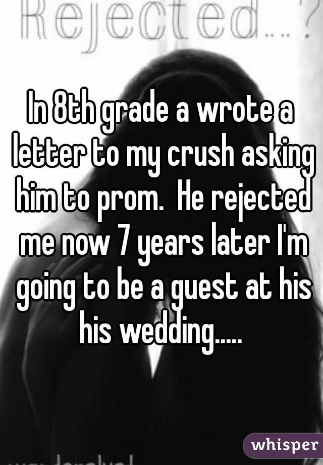 Crush letter for him