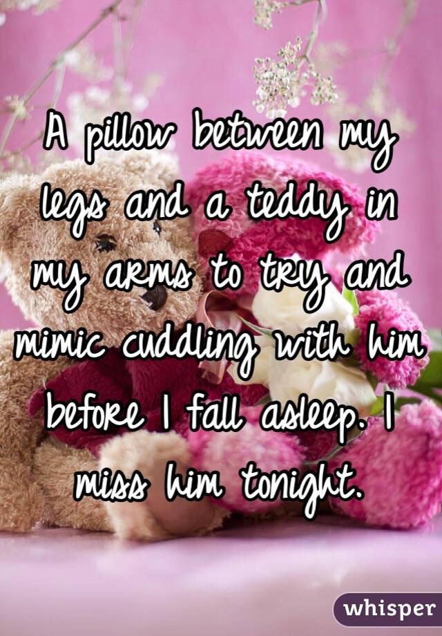 Pillow Between Legs Sleeping a Pillow Between my Legs And a